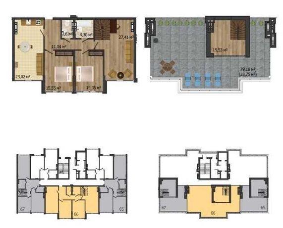 Продам 2х уровневую квартиру с видом на море