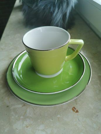 Serwis kawowy Almi Decor 12 osób filiżanka spodek talerz