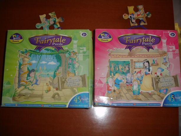2 Puzzles Fairytale 45 Peças idade 3+