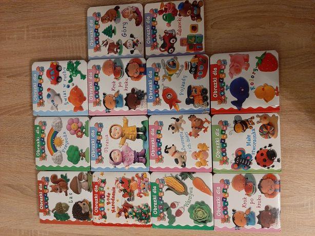 Ksiażeczki Obrazki dla maluchów 14szt + książeczka Przyjaciele