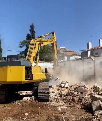 Terraplanagem, escavações e demolições