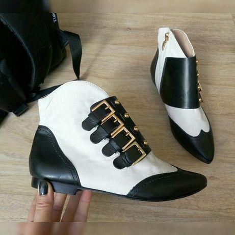 Новые кожаные стильные деми ботинки Сosmoparis Франция