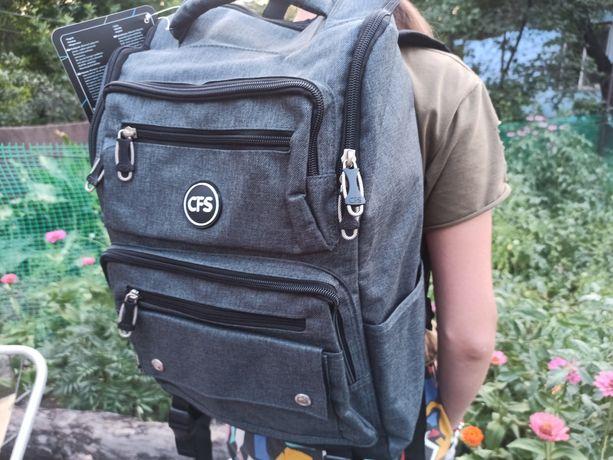Рюкзак молодежный Cool For School 820 17l 15.6'' Grey