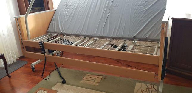 Łóżko rehabilitacyjne na pilota +WYSIĘGNIK+MATERAC