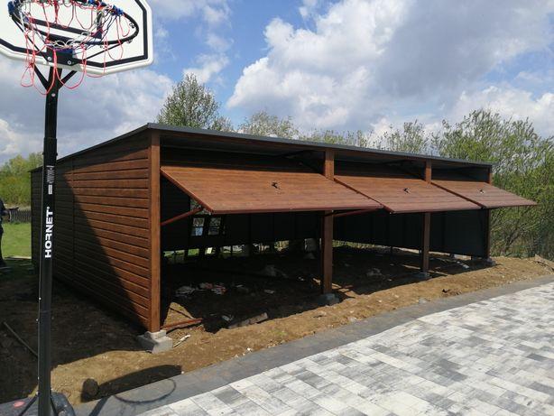 Garaż blaszany 3 stanowiskowy 9x 6 panel poziomy garaże Blaszane