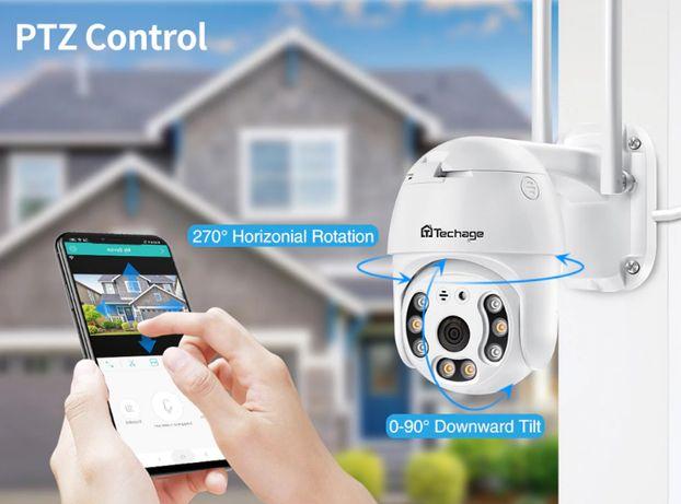 Câmera Vídeo Vigilância WIFI 1080P • Rotativa Exterior • Auto Tracking