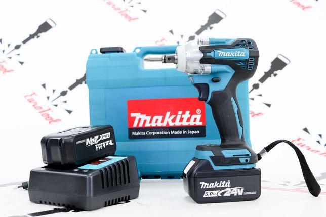 Аккумуляторный безщёточный гайковёрт-Импакт Makita 2В1 DTW301  24v/5ah