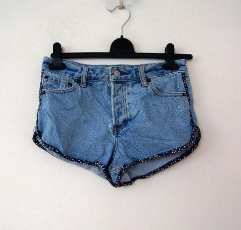 jeansowe spodnie spodenki shorty na lato 34 xs 36 S krotkie dzinsowe