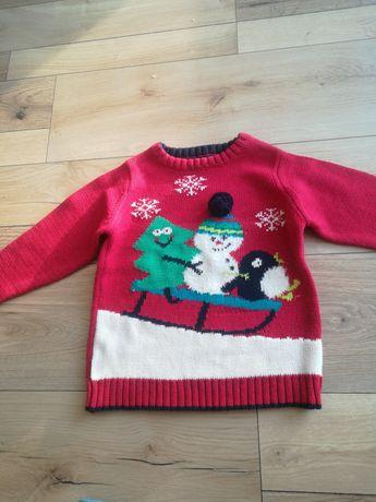 Sweterek świąteczny dla dziecka na wiek 3-4 latka
