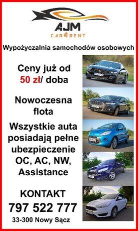 Wypożyczalnia samochodów Nowy Sącz - wynajem samochodu