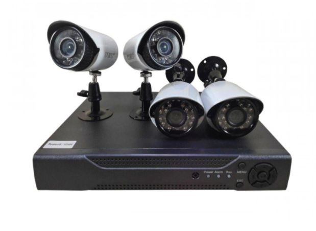 Уличный комплект видеонаблюдения 4 камеры и видеорегистратор UKC KIT