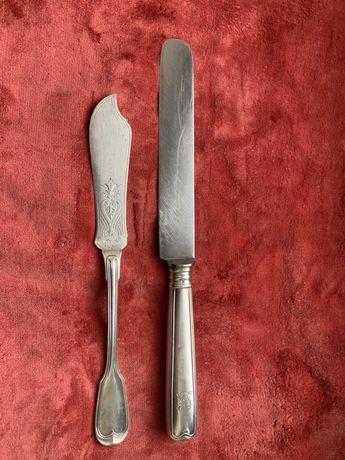 Лопатка и нож для торта серебро Италия