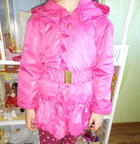 Wójcik płaszcz kurtka dziewczyna w stylu boho r. 110 piękna fuksja