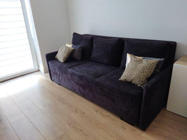 Sofa kanapa czarna welur