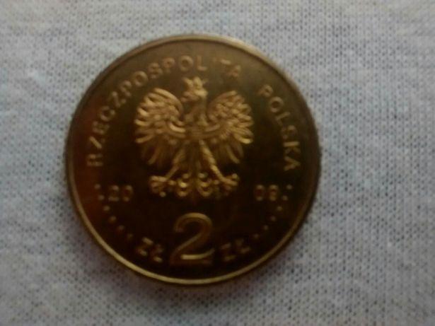 Монета Польши 2 złoty редкая юбилейная