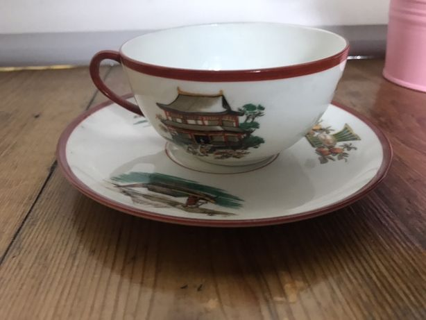 Filzanka ze spodkiem porcelana  BOHEMIA czechoslowacja vintage prl