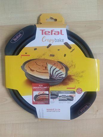 Tefal okrągła forma do ciasta 24cm Crispy Bake