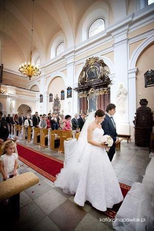 Suknia ślubna 36 biała koronkowa boho