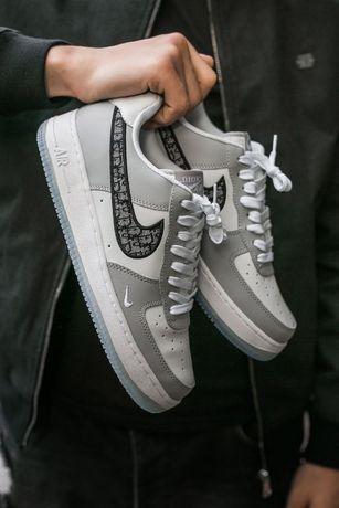 Nike Air Force z Dior szaro biale meskie buty 40 - 45