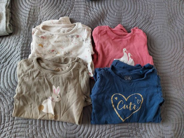 Ubranka dla dziewczynki 74 body, sukienki Next Zara Cool Club