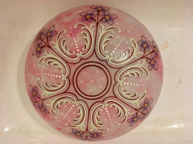 lampa żyrandol antyk róż, sypialnia, sufitowa, okrągła 40 cm