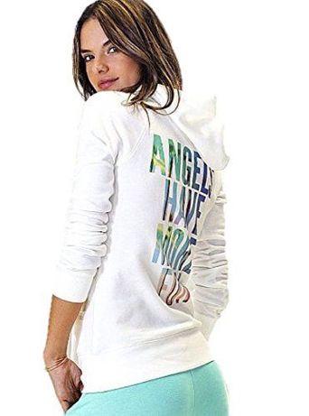 Victoria s Secret Белоснежное зип-худи «у Ангелов больше веселья