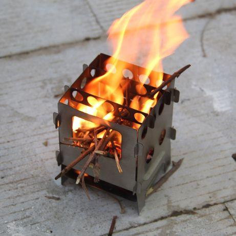 Походная титановая щепочница,печь Lixada титанова щепочниця туристична