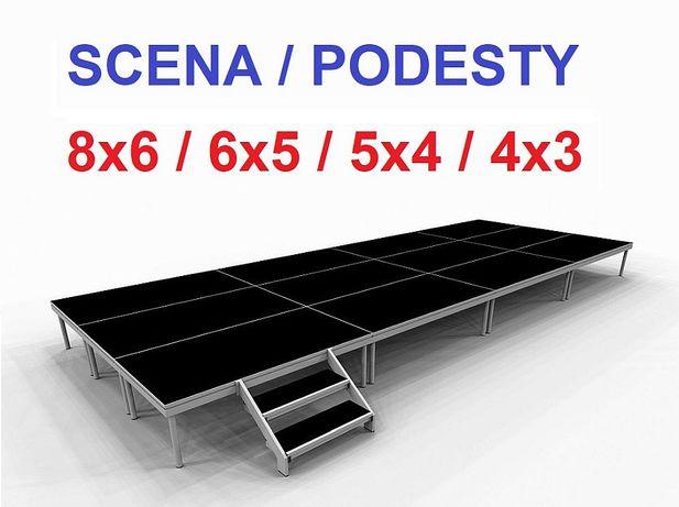 Scena 6x4m, podesty sceniczne estrada wybieg podium podest - Nowy Sącz
