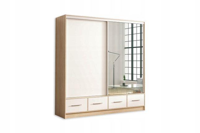 Szafa Hiro 200cm, lustro, garderoba, szuflady