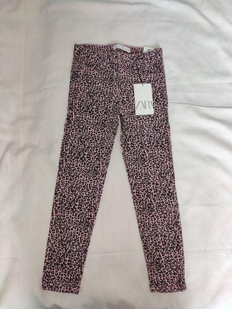 Новые леопардовые джинсы Зара zara для девочки