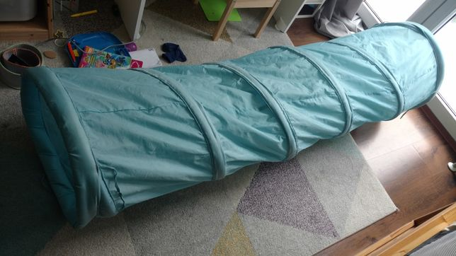 Duży składany tunel Ikea Speja niebieski, stan bdb! 45 x 170 cm