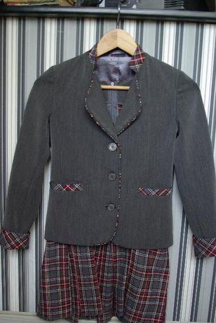 Школьная форма сарафан+пиджак