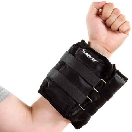 OBCIĄŻNIKI DO ĆWICZEŃ Na Ręce i Nogi Movit 2 X 3 KG Czarne