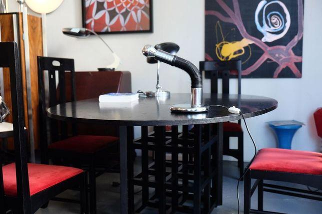 Mesa Bauhaus Rennie Mackintosh Modelo DS1 e Quatro cadeiras Ingram