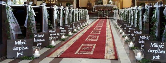 Tabliczki z Hymnem o Miłości ślub