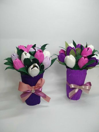 Букеты, цветы из конфет от 150 рублей