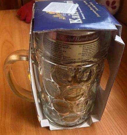 Крутой подарок другу набор бочонок немецкого пива ж/б бокал для пива