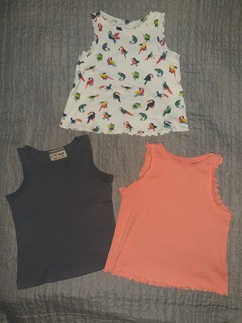 Next koszulka bluzka podkoszulka r. 74 80 papugi szara koral