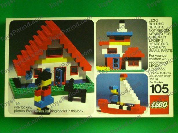 Lego 105-2, дом, ретро, 1970-х годов.