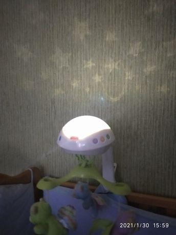 Мобиль на кроватку  Fisher Price с проектором же