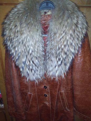 Куртка кожа мех натуральный 54р