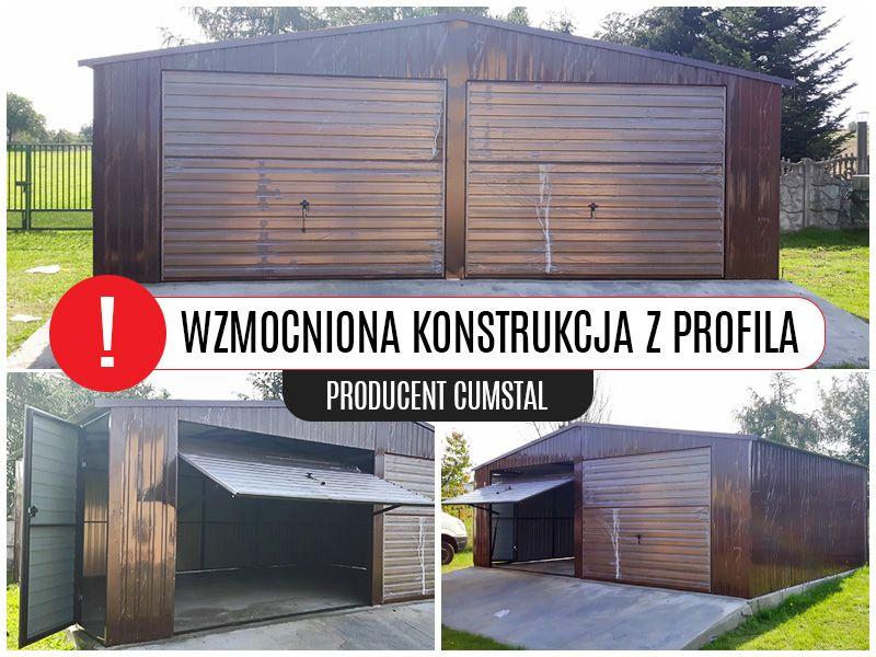 Garaż blaszany Drewnopodobny 7x5 , garaże , hale , Cumstal Garaże Jelenia Góra - image 1