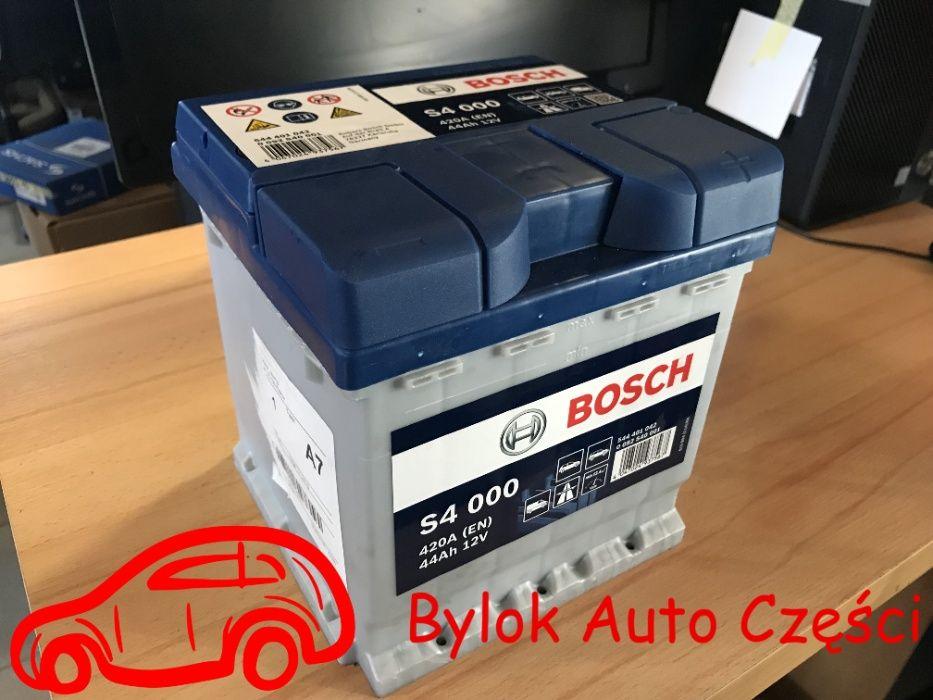 """AKUMULATOR 44AH/420A """"Bosch"""" NOWY!!! """"Bylok Auto Części"""" Gliwice Zabrz Gliwice - image 1"""