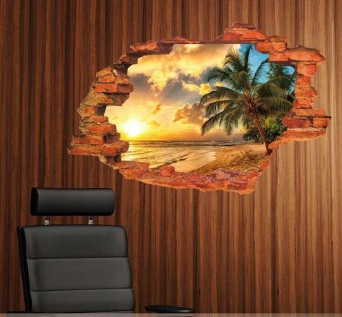 Naklejki na ścianę Widok 3D WS-0219