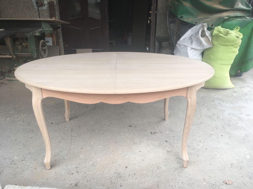 Stół elipsa roskładany + 6 krzeseł