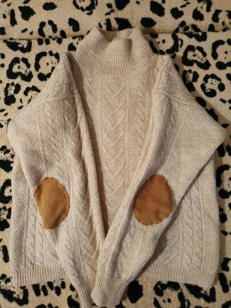 Шикарный свитер-реглан, с косами