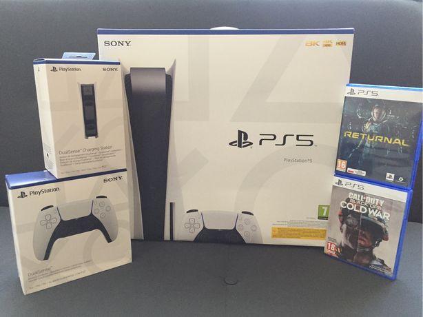 Konsola SONY Playstation 5 PS5 Nowa 2 Lata Gwarancji Na Komunię