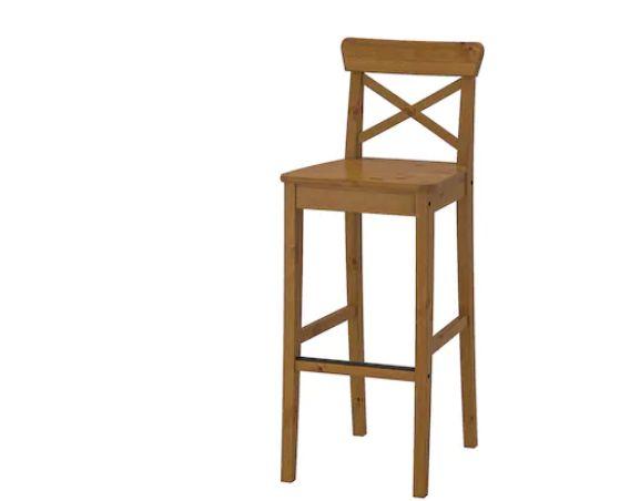 INGOLF Stołek barowy IKEA bejca patynowa,