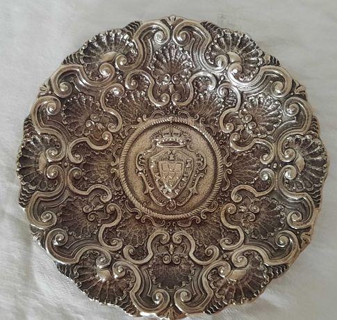 Salva de Aparato em prata portuguesa