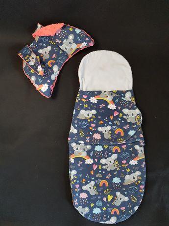 Otulacz becik śpiwór poduszka antywstrząsowa motylek Handmade